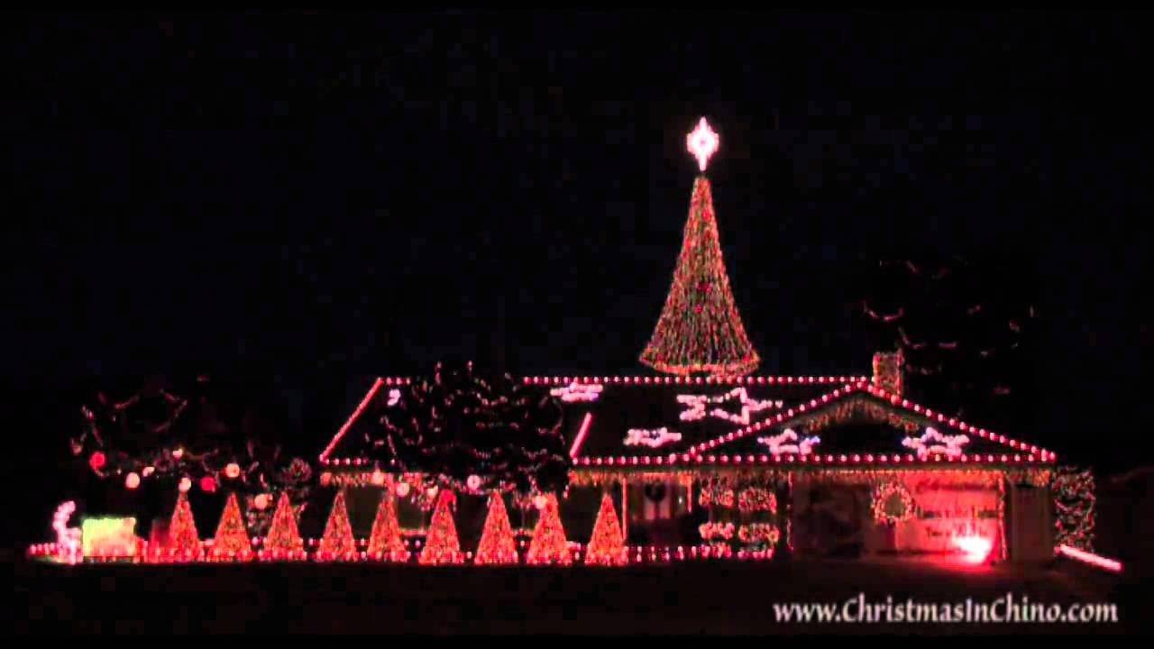 deck the halls 2009 christmas lights chino california - Chino Christmas Lights