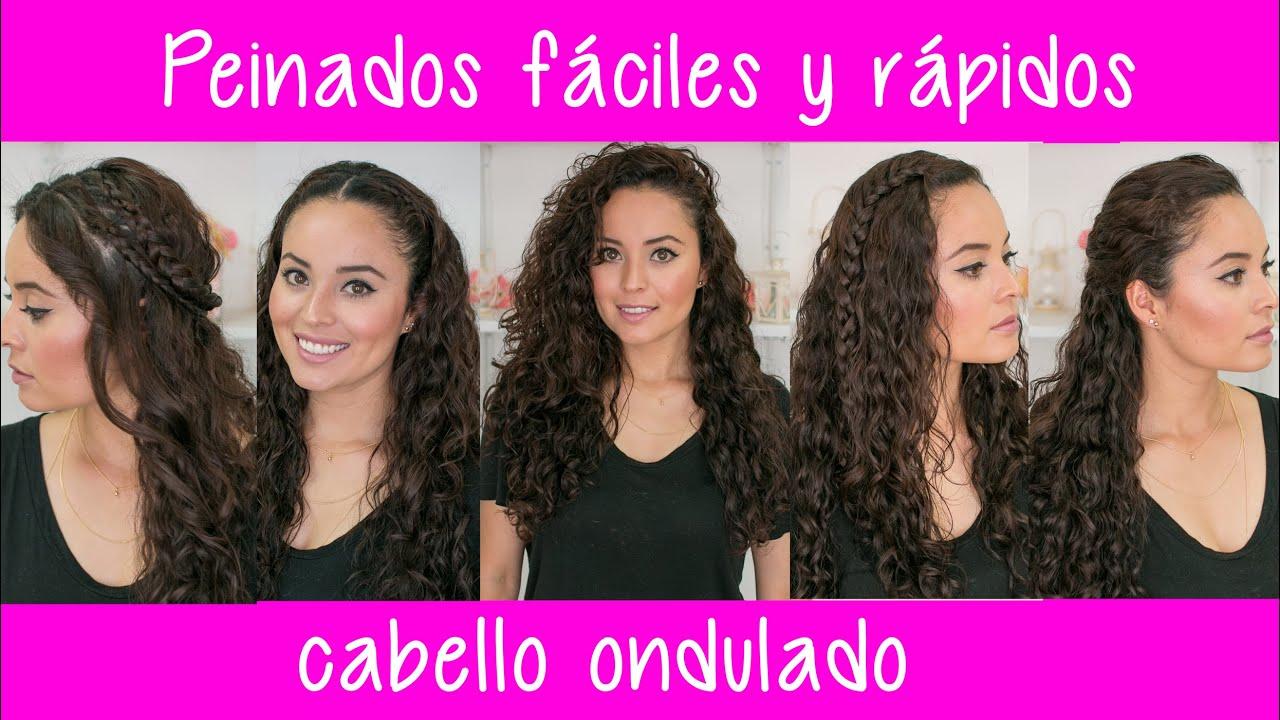 peinados fciles y rpidos para cabello rizado chino u ondulado fabi ortiz youtube