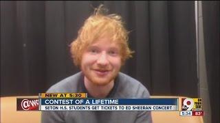 Ed Sheeran: Seton High School students win free tickets to concert