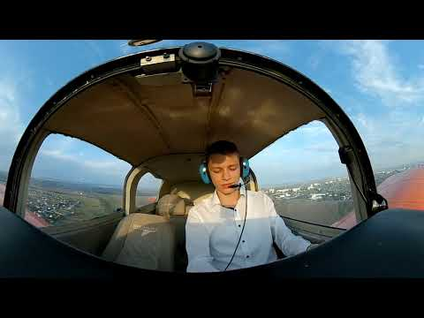 [360° video] First solo flight in 16 years old / UKRAINE - Dnipro / Cam. - Xiaomi 360° Panoramic