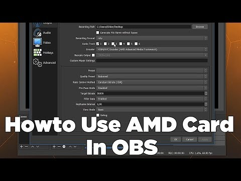 Howto Record With AMD Graphics Card In OBS Studio Simple Tutorial With Gameplay Footage