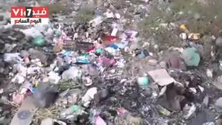 صحافة المواطن.. بالفيديو: القمامة تحاصر مستشفى أبو غنيمة بكفر الشيخ