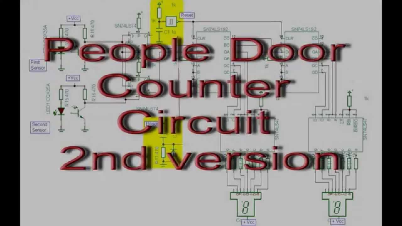 sc 1 st  YouTube & People Door Counter Circuit Diagram - YouTube