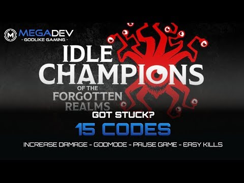 IDLE CHAMPIONS OF THE FORGOTTEN REALMS Cheats: Godmode, Pause Game, ... | Trainer By MegaDev
