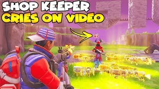 Shop Keeper Cries on Video EXPOSED! 😢😱 (Scammer Gets Scammed) Fortnite Save The World