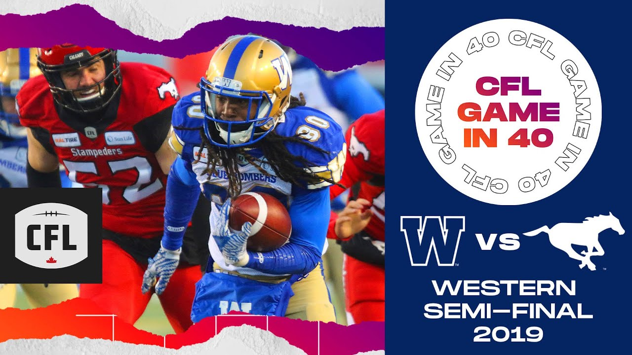 CFL Game in 40: Western Semi-Final 2019, Winnipeg @ Calgary