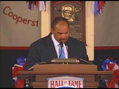 Reggie Jackson salutes John McNamara in Hall of Fame Speech