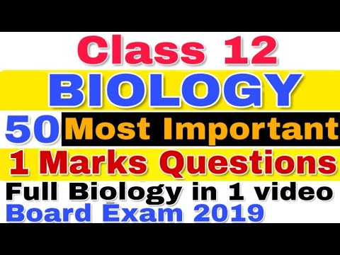 Most Important Questions of Biology for CBSE Board 2019 || Class 12 | Guaranteed Questions