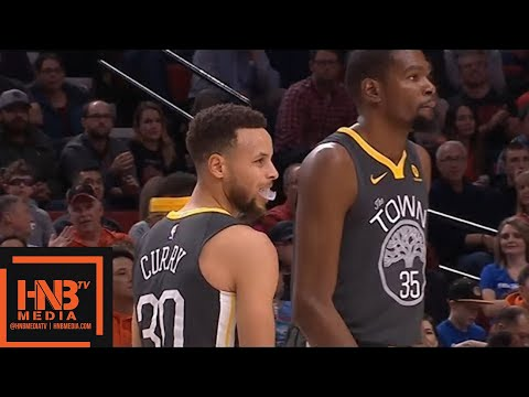 Golden State Warriors vs Portland Trail Blazers 1st Qtr Highlights / Feb 14 / 2017-18 NBA Season