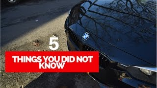BMW F30 - 5 Features You Probably Didn't Know!