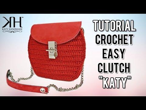 "TUTORIAL POCHETTE ""Katy"" UNCINETTO - DIY Crochet bag ● Katy Handmade"