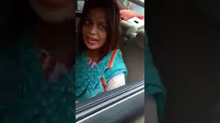 She threats Bangladeshi traffic surgeon police-Its government car( part -1) - Dhaka 25-09-18