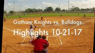 Gotham Knights vs. Bulldogs 10-21-17