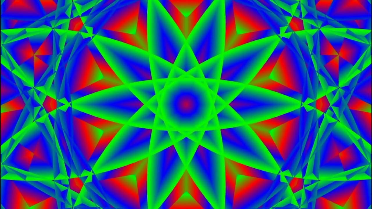 Lotus Awakening ॐ Trippy psychedelic Visuals ( Mandala expanding circles  sacred geometry trip )