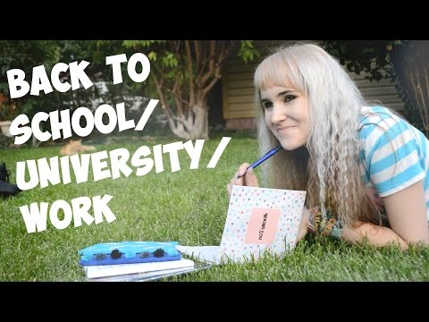 #68. BACK TO SCHOOL/UNIVERSITY/WORK. Оформляем тетради