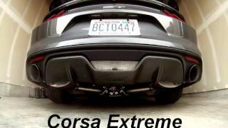 corsa extreme vs stock s550 mustang gt catback exhaust