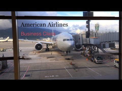American Airlines Business Class  777-300ER  Los Angeles - Hong Kong