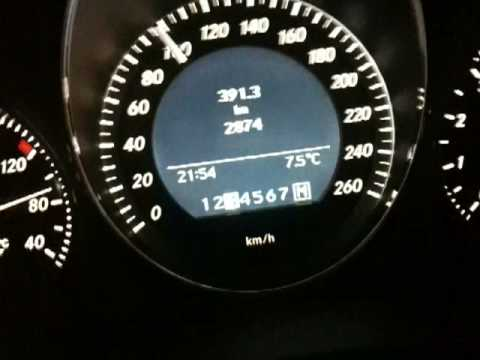 Mercedes C350 CGI von 0-160km/h mit 292 PS Drag