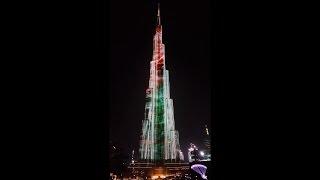 Burj khalifa light show by Emaar