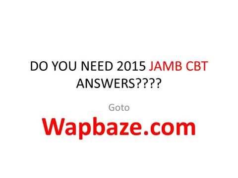 JAMB CBT 2015 ANSWERS