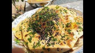 Amritsari aloo kulcha on tawa by cooking with girija/Amritsari kulcha recipe in hindi