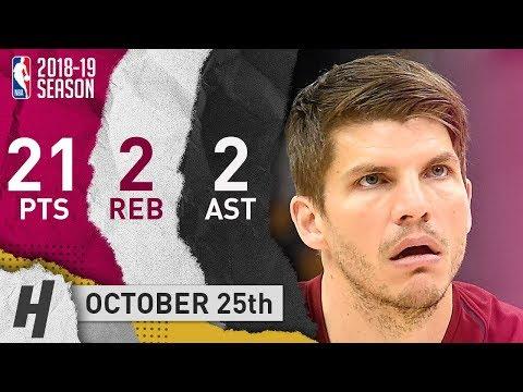 Kyle Korver Full Highlights Cavaliers vs Pistons 2018.10.25 - 21 Pts, 2 Ast, 2 Reb!