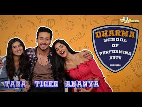 Tara Sutaria, Tiger Shroff and Ananya Panday talk about ex-dharma students || Student of the Year 2