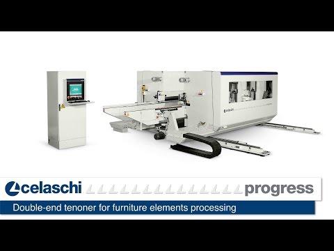 Celaschi Progress - Double end tenoner for furniture elements processing