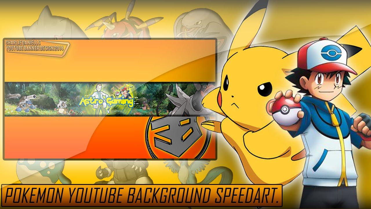 pokemon youtube banner design speedart 1080p youtube