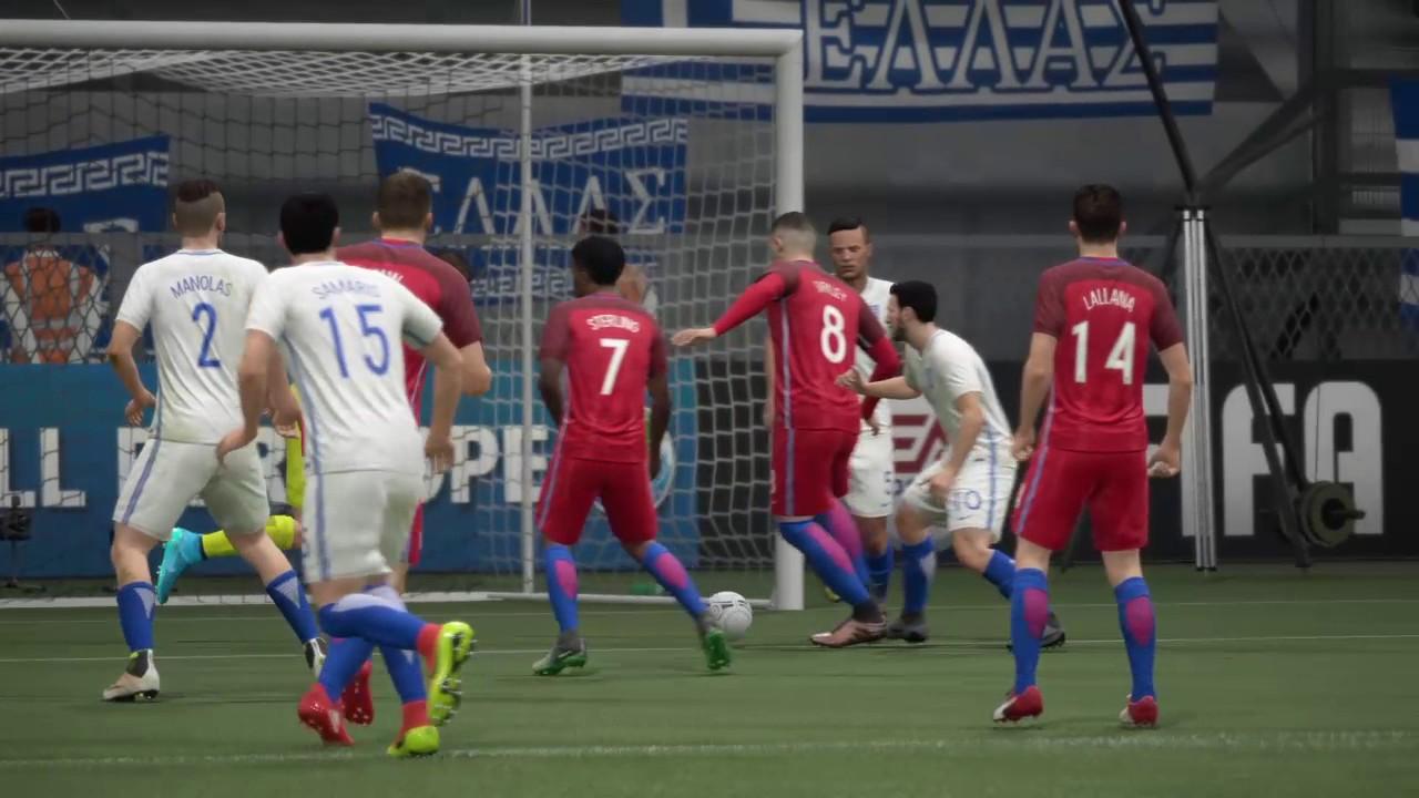 PlayStation 4 FIFA 17第二季:2018世界盃足球賽歐洲區預選賽:希臘 vs 英格蘭 (世界級) - YouTube