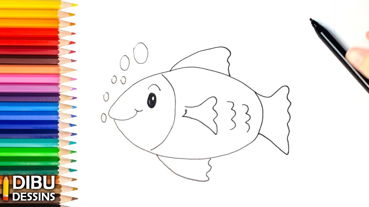 Comment Dessiner Un Poisson Etape Par Etape Youtube