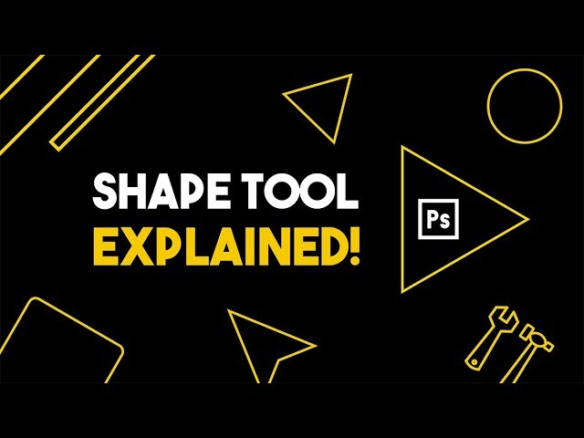 Shape Tool Explained! | Photoshop tutorial