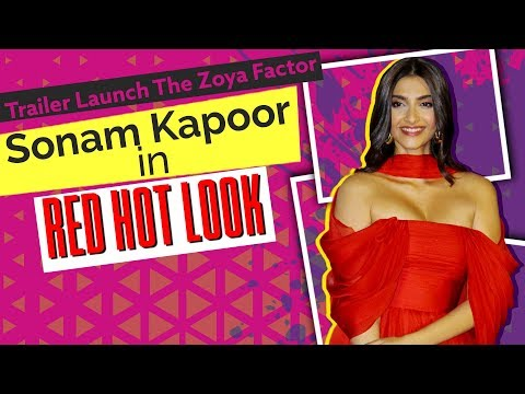 The Zoya Factor Trailer Launch: Sonam Kapoor looks Hot and Glamorous in Red gown