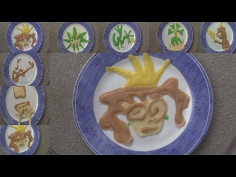 Story Illustrated in Pancakes (pancake art)
