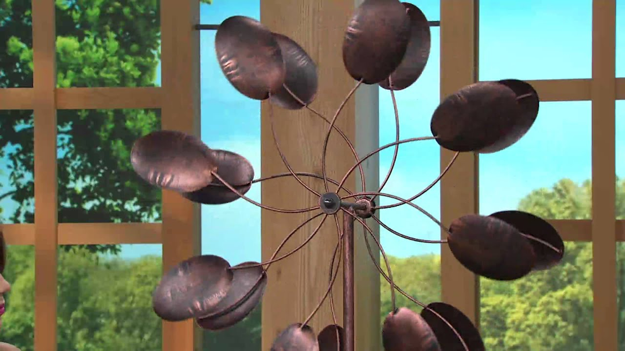 Plow U0026 Hearth 6 Ft. Steel Kinetic Garden Wind Spinner