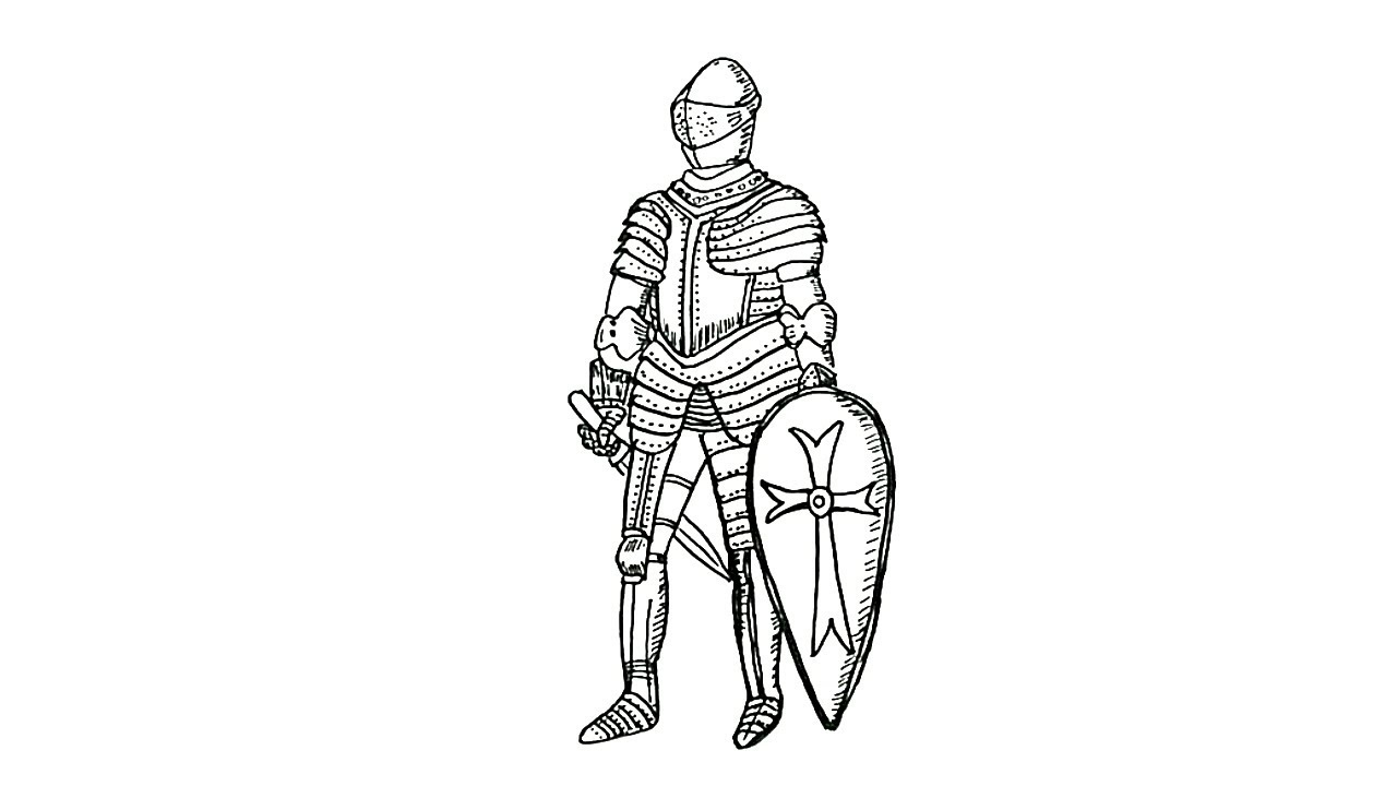 how to draw a knight youtube
