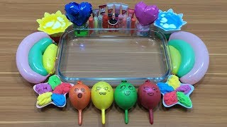 MIXING RANDOM THINGS INTO CLEAR SLIME #10 !!! RELAXING SLIME WITH FUNNY BALLOONS