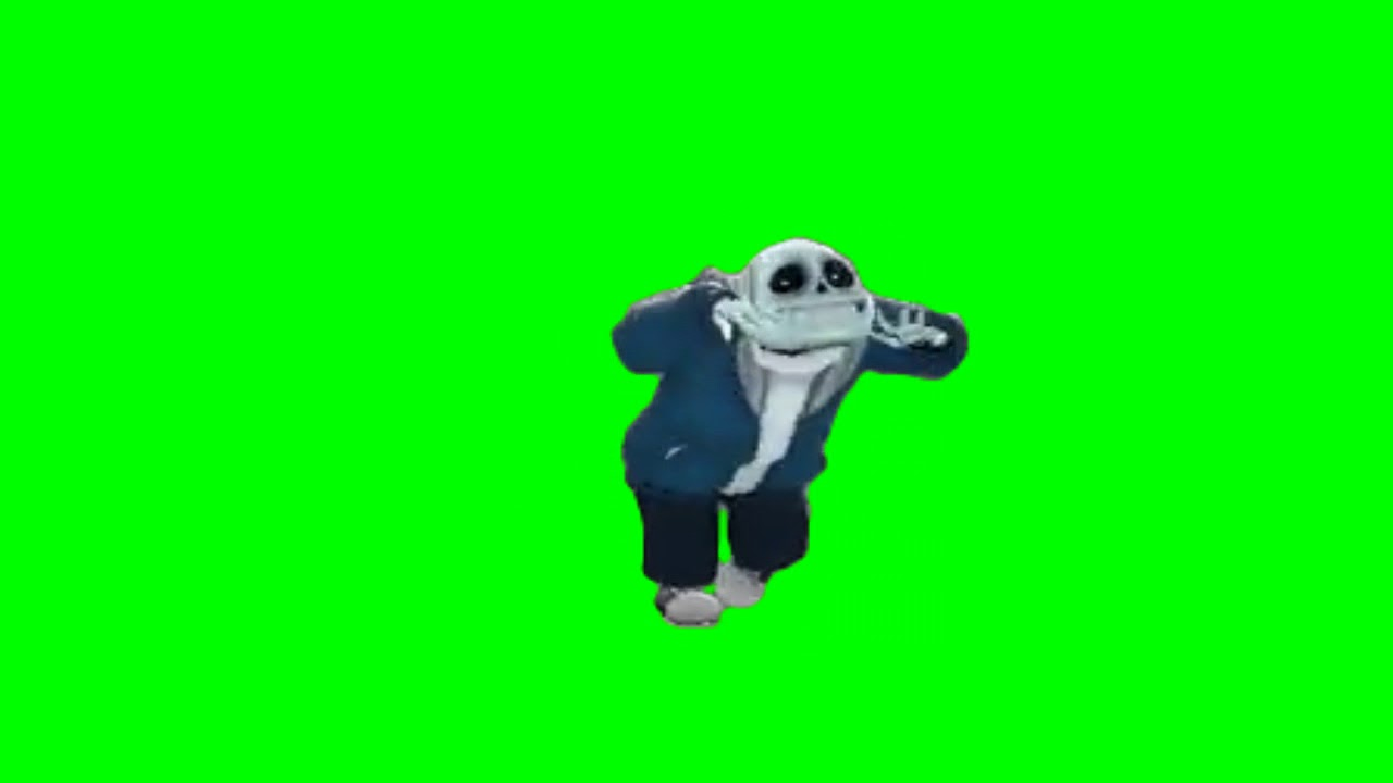 Sans fortnite default dance green screen version 2