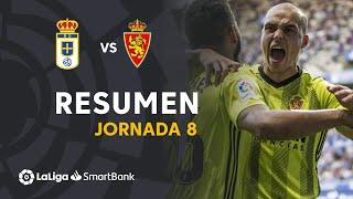 Resumen de Real Oviedo vs Real Zaragoza (2-2)