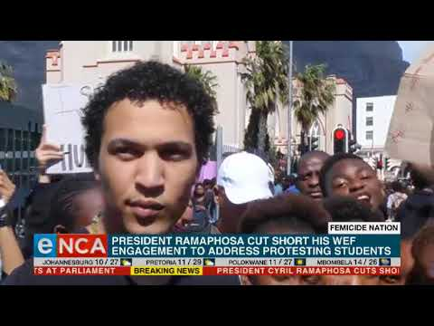 REAKSIE   Ramaphosa skakel met betogers - eNCA