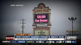 Nye County sheriff leaves gun in casino restroom