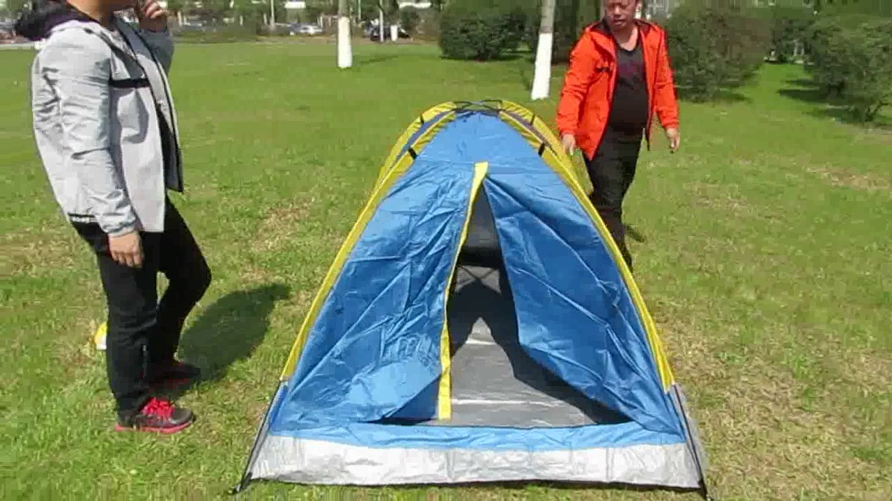 How To Set Up A 2 Man Monodome Camping Tent Youtube Tenda Great Outdoor