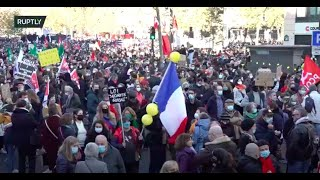 LIVE: Protests against 'Global Security' bill continue in Paris