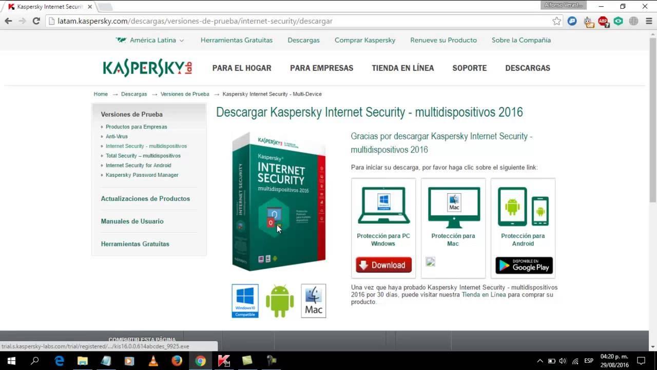 descargar activador de kaspersky 2016