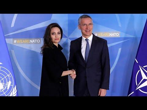 Direkte: Jens Stoltenberg og Angelina Jolie holder pressekonferanse