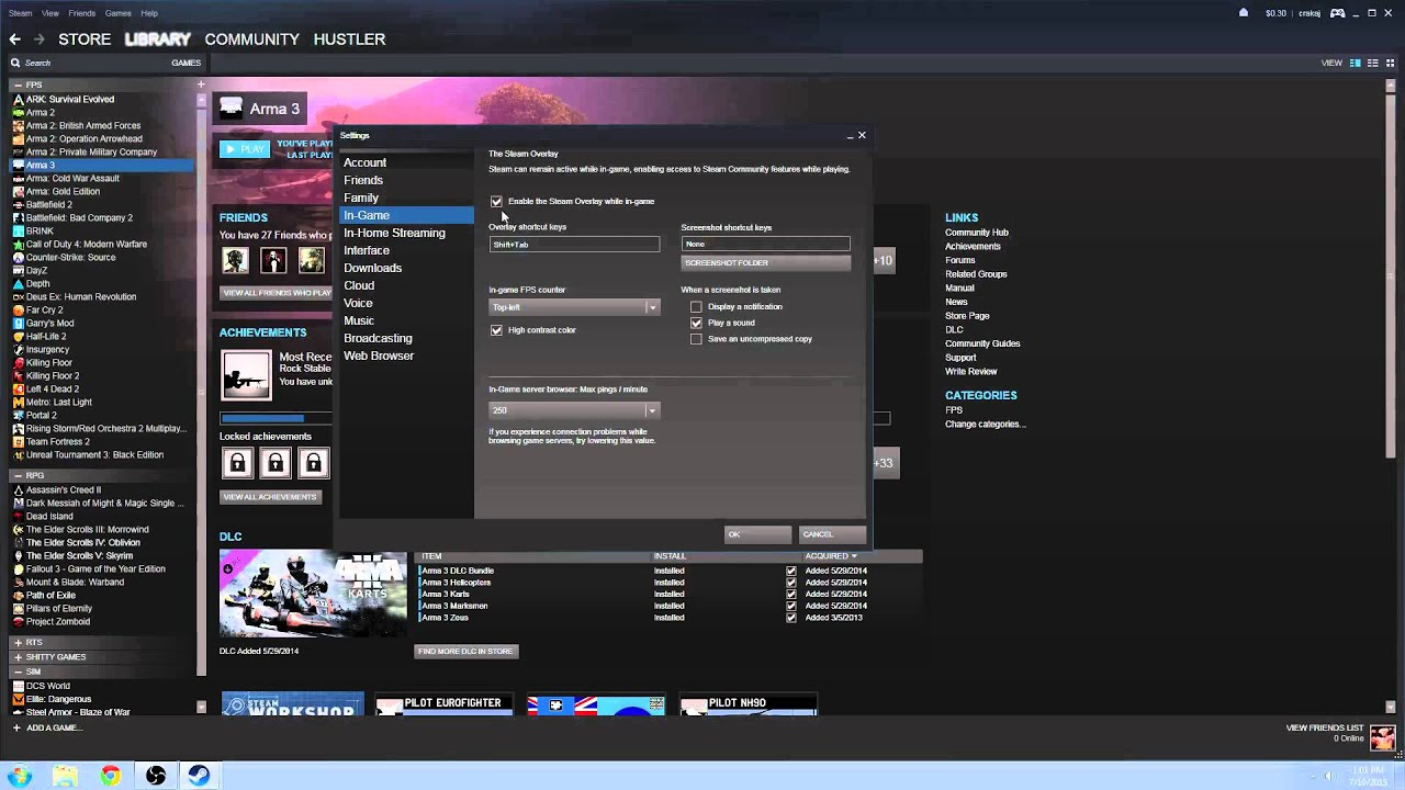 How To Disable Steam Overlay
