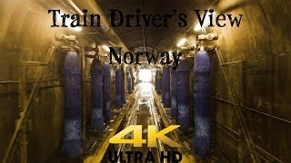 Train Driver's View: Washer, track 12 and then Oslo - Ål in 4K UltraHD