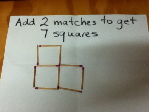 How To Solve The Match Stick Puzzle 1 - Plus Solution - Step By Step Instructions - Tutorial