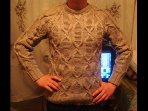 Мужские пуловеры и свитера спицами схемы с описанием
