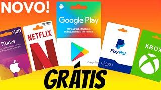 NOVO! COMO GANHAR GIFT CARD DE GRAÇA  DA  GOOGLE PLAY 2020! 100% FUNCIONANDO!
